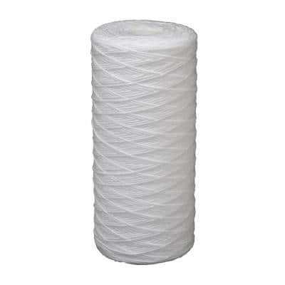 Universal Fit String Wound Large Capacity Whole House Water Filter - Fits Most Major Brand Systems
