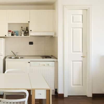 18 in. x 80 in. Textured 3-Panel Hollow Core Primed Composite Interior Door Slab