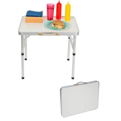 Aluminum Adjustable Portable Folding Camp Table with Carry Handle