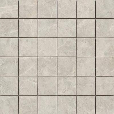 Havana Silver 12.28 in. x 12.28 in. Squares Matte Ceramic Mosaic Tile (1.048 sq. ft./Each)