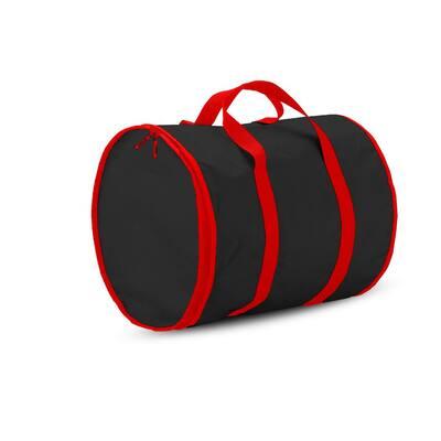 15 in.Black Polyester 600 Denier Christmas Light Storage Bag(300-Light Bulbs)