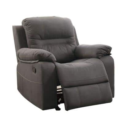 39 in. H Gray Leatherette Rocker Recliner