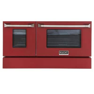 Oven Door and Kick-Plate 48 in. Red Color for KNG481 (Large and Small Ovens)