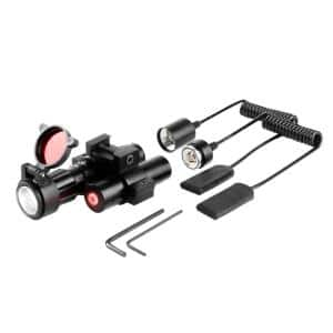 90-Lumen LED Flashlight and Adjustable 5mW 650nm Red Laser for Rail-Equipped Pistols and Long Guns