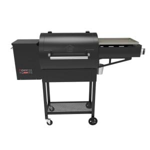 Dual Cook 600 sq. in. Pellet Grill and Griddle Combo in Black