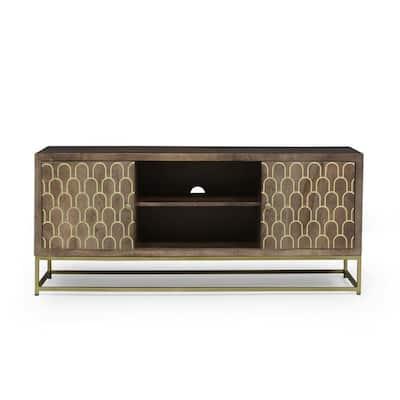 Sevier Walnut 2-Door TV Cabinet (Fits TVs Up to 33 in.)