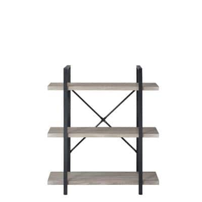 Black and Brown Heavy Duty 3-Tier Steel Shelving Unit (12 in. W x 40 in. H x 35 in. D)