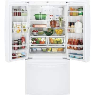 18.6 cu. ft. French Door Refrigerator in White, Counter Depth