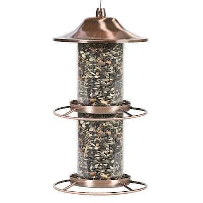 Copper Panorama Hanging Bird Feeder - 4.5 lb. Capacity