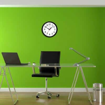 14 in. Black Electric Wall Clock