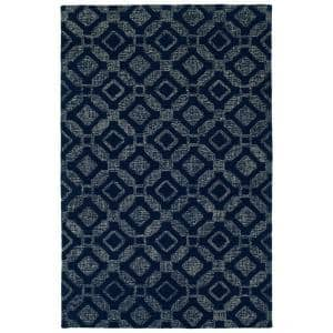 Stesso Navy 5 ft. x 8 ft. Area Rug