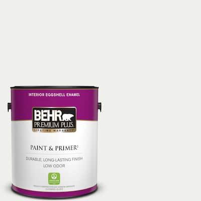 1 gal. #57 Frost Eggshell Enamel Low Odor Interior Paint & Primer