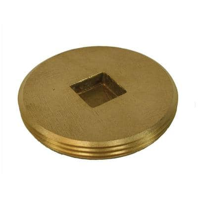3 in. Countersunk Southern Code Brass Cleanout Plug 3-3/8 in. O.D. for DWV