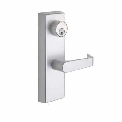 Esutcheon Handle Satin Stainless Entry Door Lever with Clutch