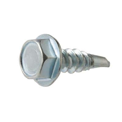 #10 x 5/8 in. Zinc Plated Hex Head Sheet Metal Screw (100-Pack)