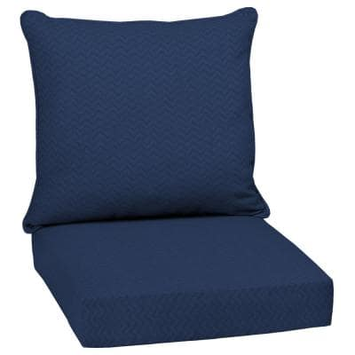DriWeave Sapphire Leala Outdoor Deep Seat Lounge Chair Cushion Set