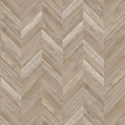 Boardwalk Pine 12.01 in. W x 28.28 in. L Chevron Luxury Vinyl Plank Flooring (18.87 sq. ft./case)