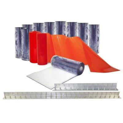 Clear-Flex II 6 ft. x 7 ft. PVC Strip Door Kit