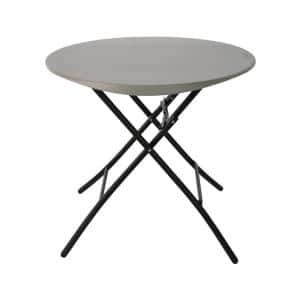 33 in. Light Commercial Putty Folding Round Table