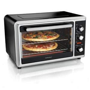Black Countertop Oven with Convection and Rotisserie