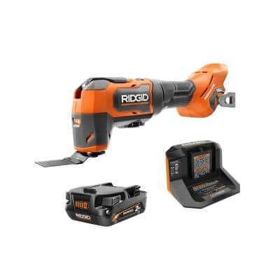 18V Brushless Cordless Oscillating Multi-Tool Kit with 2.0 Ah MAX Output Battery and 18V Charger