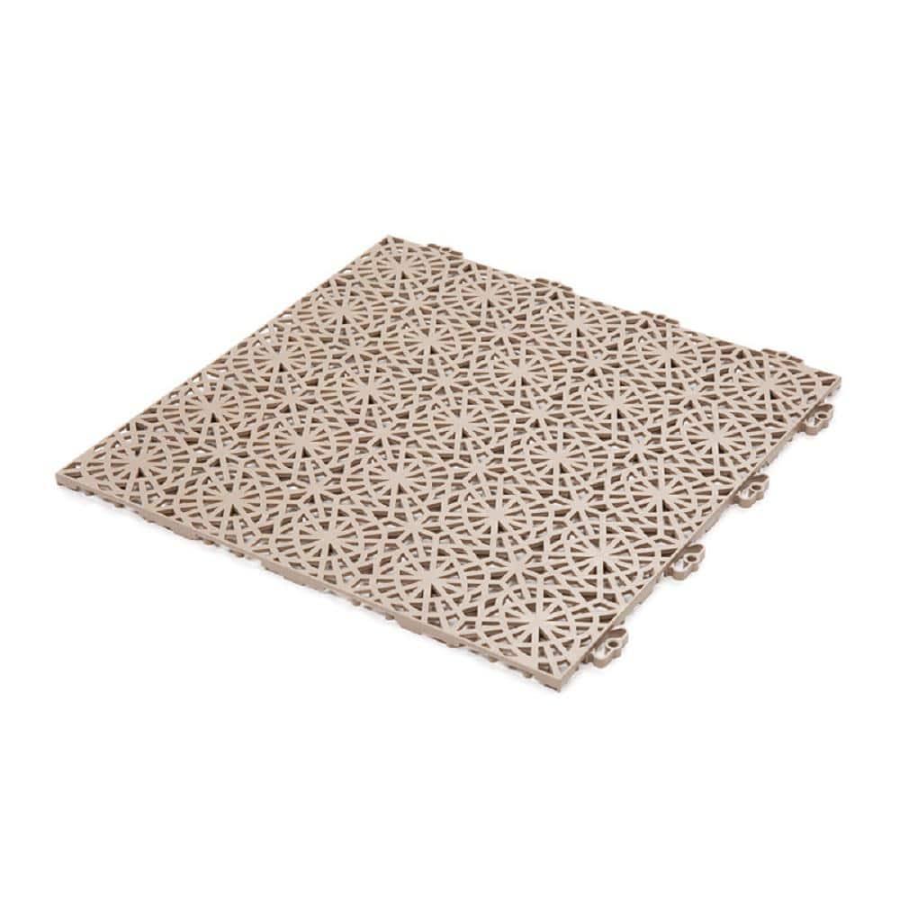 Bergo Xl Tiles 1 24 Ft X 1 24 Ft Pvc Deck Tiles In Cedar Wood 14 Tiles Per Case 21 56 Sq Ft Xltilecw2 The Home Depot