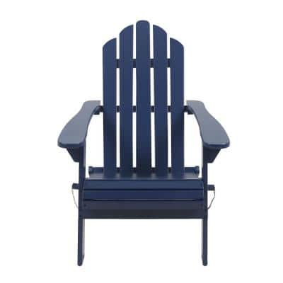 Hollywood Blue Folding Wood Adirondack Chair
