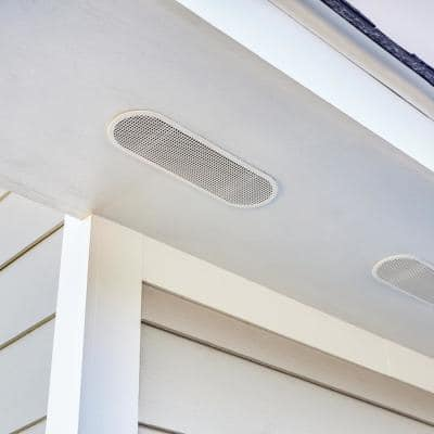 4 in. x 12 in. Oval White UV Resistant Resin Soffit Vent (Carton of 36)