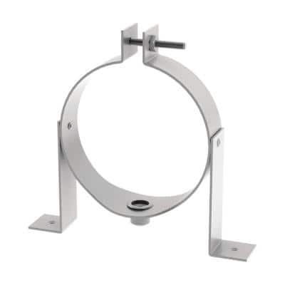 2 in. in Diameter Galvanized Steel Wall Support Metal Venting for Water Heaters