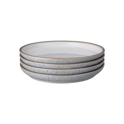 Studio Grey/White Medium Coupe Plate (Set of 4)