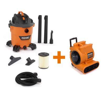12 Gal. 5.0-Peak HP NXT Wet/Dry Shop Vacuum with Filter, Hose, Accessories and 1625 CFM Blower Fan Air Mover