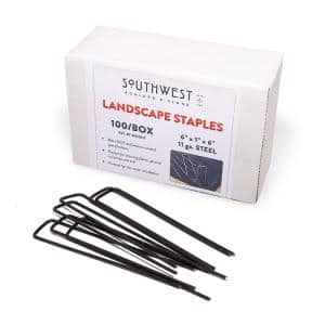 6 in. Heavy Duty Steel Garden Staples for Weed Barrier Landscape Fabric, Irrigation Lines, and Sod (100-Pack)