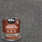 1 gal. #DCS-828 Arctic Black Semi-Transparent Flat Interior/Exterior Decorative Concrete Stain