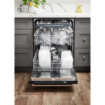 24 in. Stainless Steel Top Control Smart Dishwasher, 120-volt Stainless Steel Tub