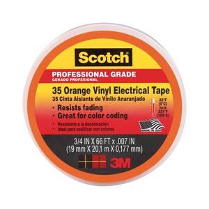 Scotch 3/4 in. x 66 ft. x 0.007 in. #35 Electrical Tape orange