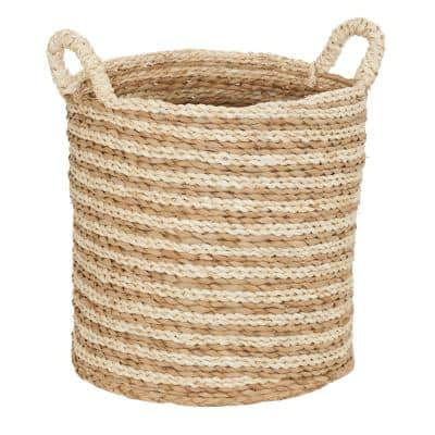 Soft Woven Decorative Basket with Handles