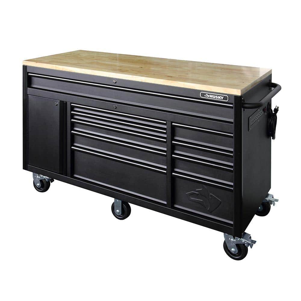 Husky Heavy-Duty 122 in. W 122-Drawer, Deep Tool Chest Mobile Workbench in  Matte Black-HOLC122122BB12M - The Home Depot
