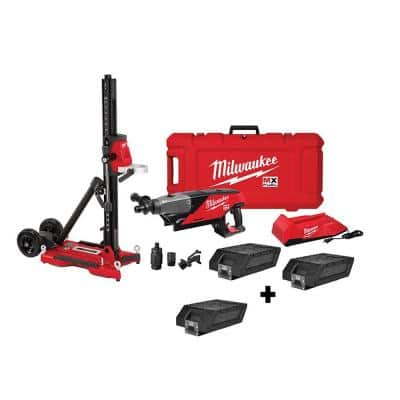 MX FUEL Lithium-Ion Cordless Handheld Core Drill Kit with Stand and 1 Free Lithium-Ion REDLITHIUM XC406 Battery Pack