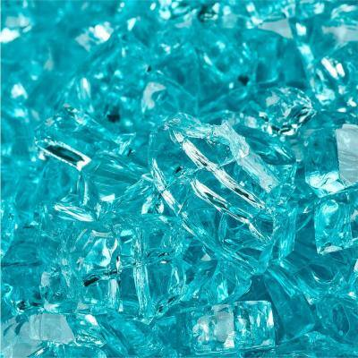 1/4 in. 10 lbs. Tahitian Blue Original Fire Glass for Indoor and Outdoor Fire Pits or Fireplaces