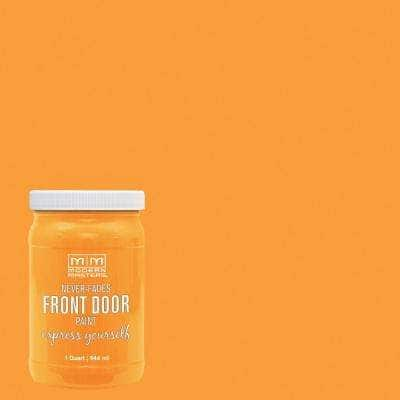 Express Yourself 1 qt. Satin Optimistic Yellow Water-Based Front Door Paint