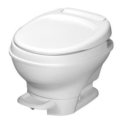 Aqua-Magic V RV Low Permanent Toilet Foot Pedal Flush - White