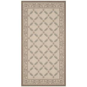 Courtyard Beige/Dark Beige 3 ft. x 5 ft. Indoor/Outdoor Area Rug