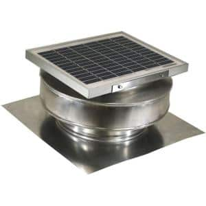 365 CFM Mill Finish 5-Watt Solar Powered Roof Mounted Exhaust Attic Fan