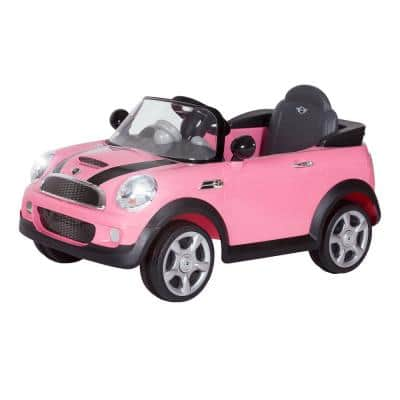 6-Volt Mini Cooper Battery Ride-On Vehicle in Pink