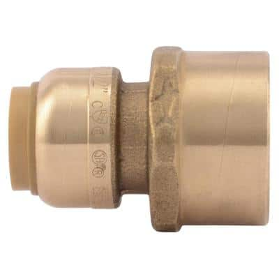 1/2 in. Push-to-Connect x 3/4 in. FIP Brass Adapter Fitting