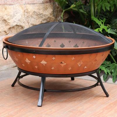 35 in. Round Metal Wood Burning Fire Pit