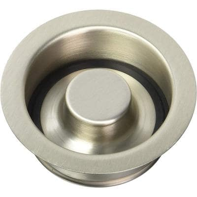 Disposal Flange and Stopper in Satin Nickel