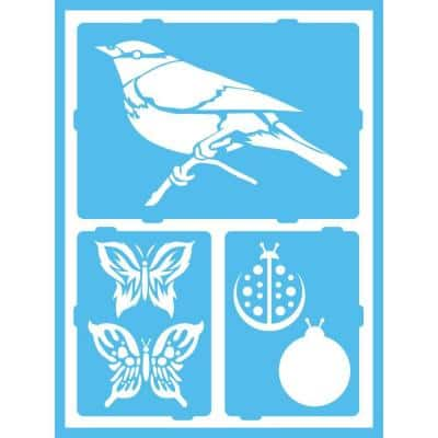 Fluttery Friends Self-Adhesive Stencil