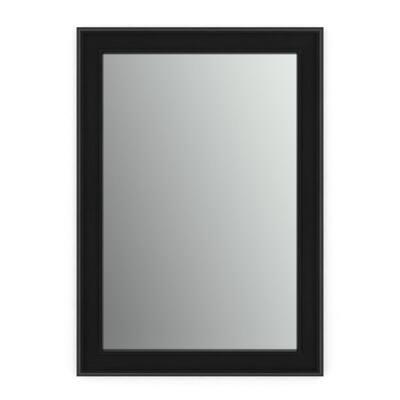 29 in. W x 41 in. H (M3) Framed Rectangular Standard Glass Bathroom Vanity Mirror in Matte Black