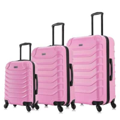Endurance Lightweight Hardside Spinner Pink 3-Piece Luggage set 20 in. x 24 in. x 28 in.